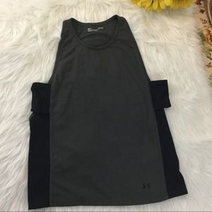 Under Armour gray athletic tank top, size Large